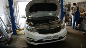 Kia Rio удаление катализатора и чип- тюнинг в московском районе СПб